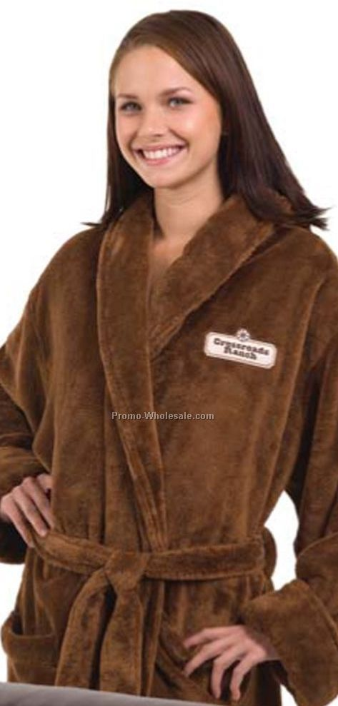 Tahoe Micro Fleece Shawl Collar Robe - 1 Size (Embroidered)