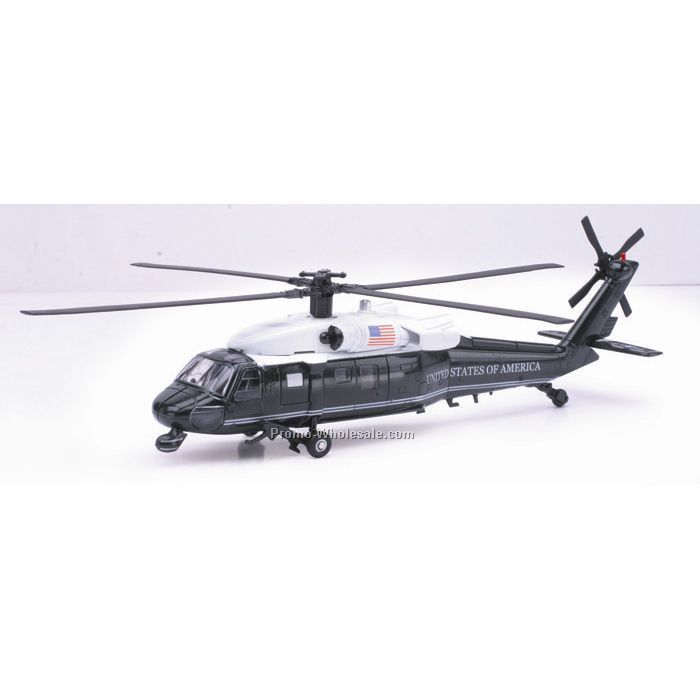 Vh-60n White Hawk Die Cast Helicopter 1:60 Scale