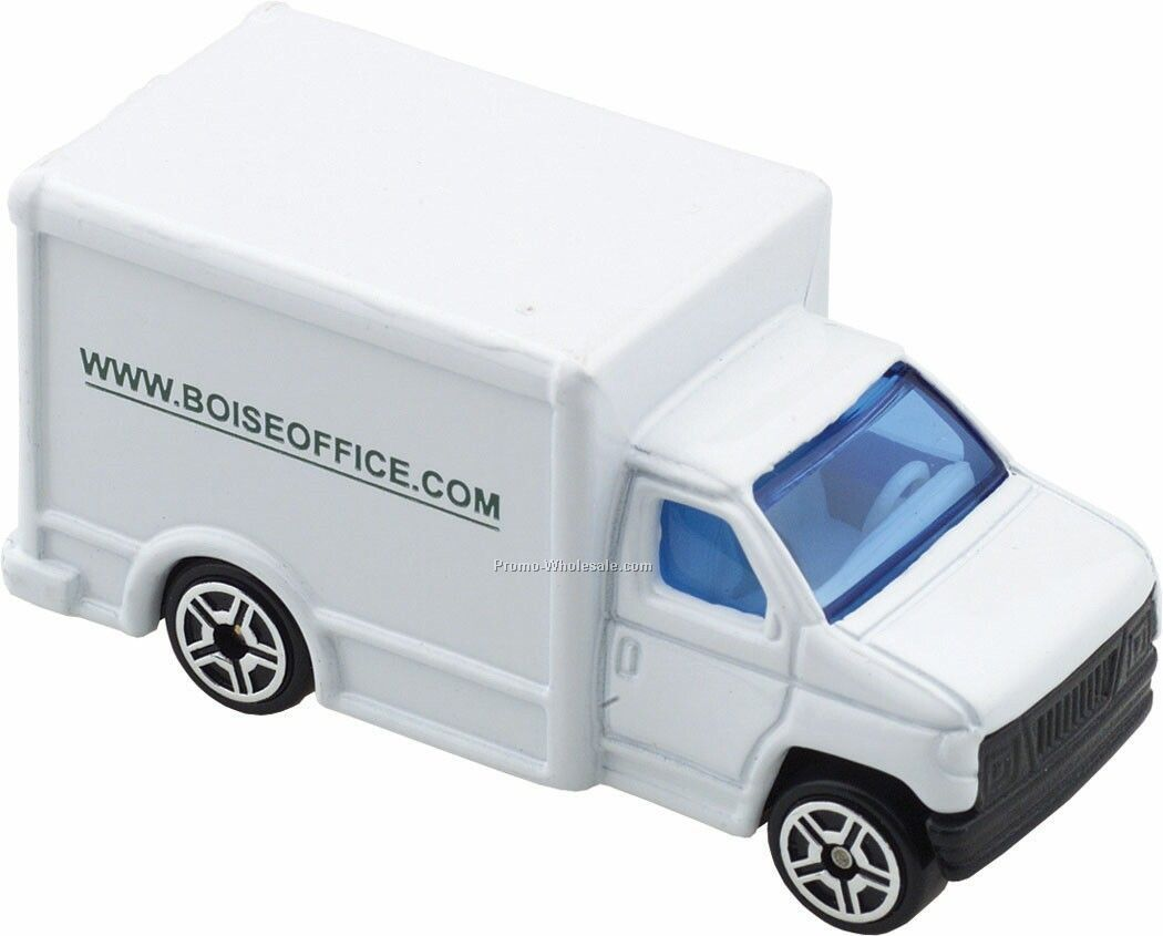 White Delivery Truck Die Cast Mini Vehicles - 3 Day