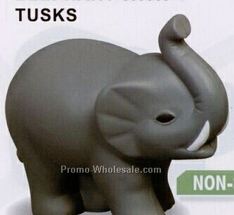 Wild Animals - Elephant With Tusks Squeeze Toy (Non Stock)