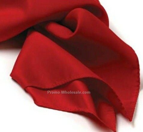 Wolfmark Red Solid Series Polyester Scarf