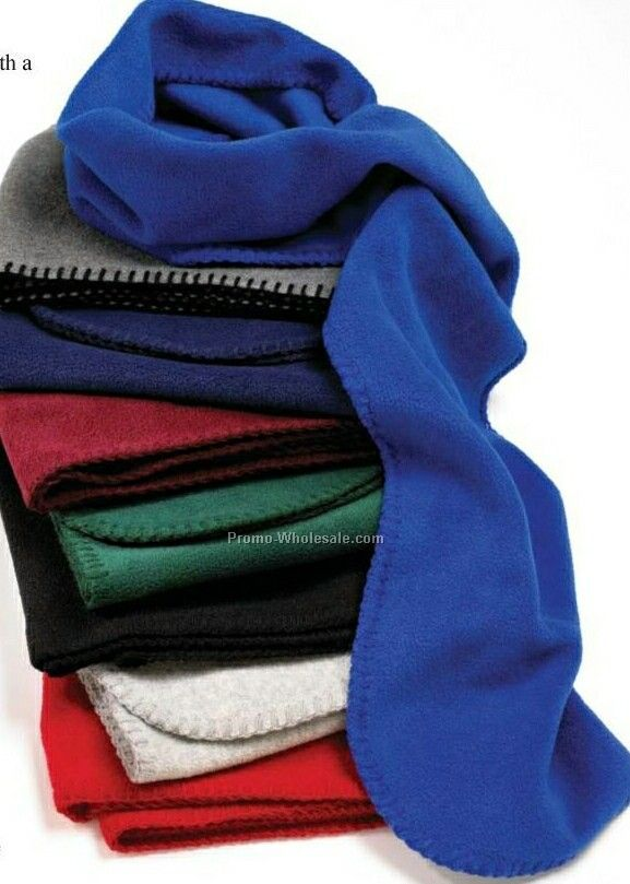 Wolfmark Royal Blue Fleece Neck Scarf