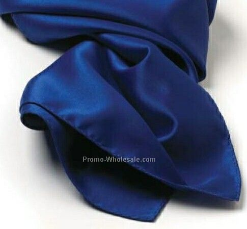 Wolfmark Royal Blue Solid Series Silk Scarf