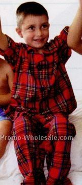 Youth Lightweight Flannel Pajama Set (Xs-l)