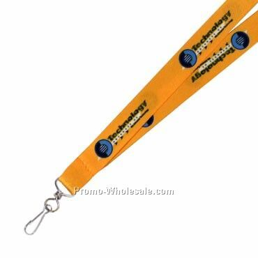 "1"" Full Color Tradeshow Lanyard W/ J-hook Attachment"