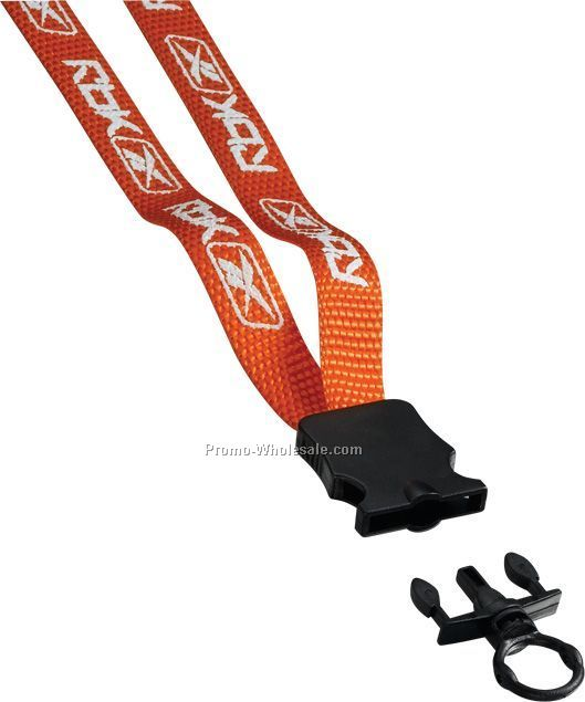 "1/2"" Nylon Lanyard With Snap Buckle Release & O-ring"