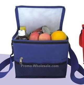 "11-3/4""x8-1/2""x9"" Family Size Cooler Bag W/ Adjustable Handle"