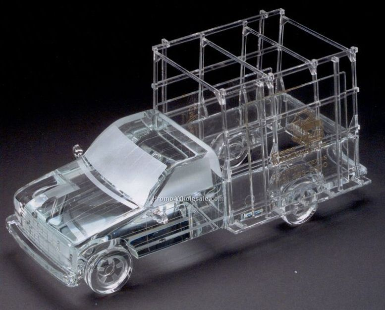 "12""x10""x8"" Glass Replica Rack Delivery Truck"