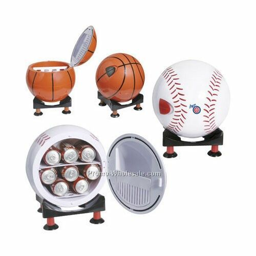 "12""x14""x12"" Sport Ball Design Mini Refrigerator & Warmer/Multi Angle"