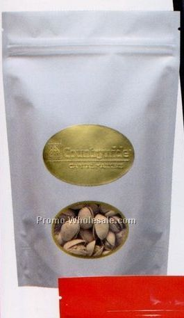 14 Oz. Chocolate Covered Almonds In Stand Up Pouch Bag W/ Clear Window