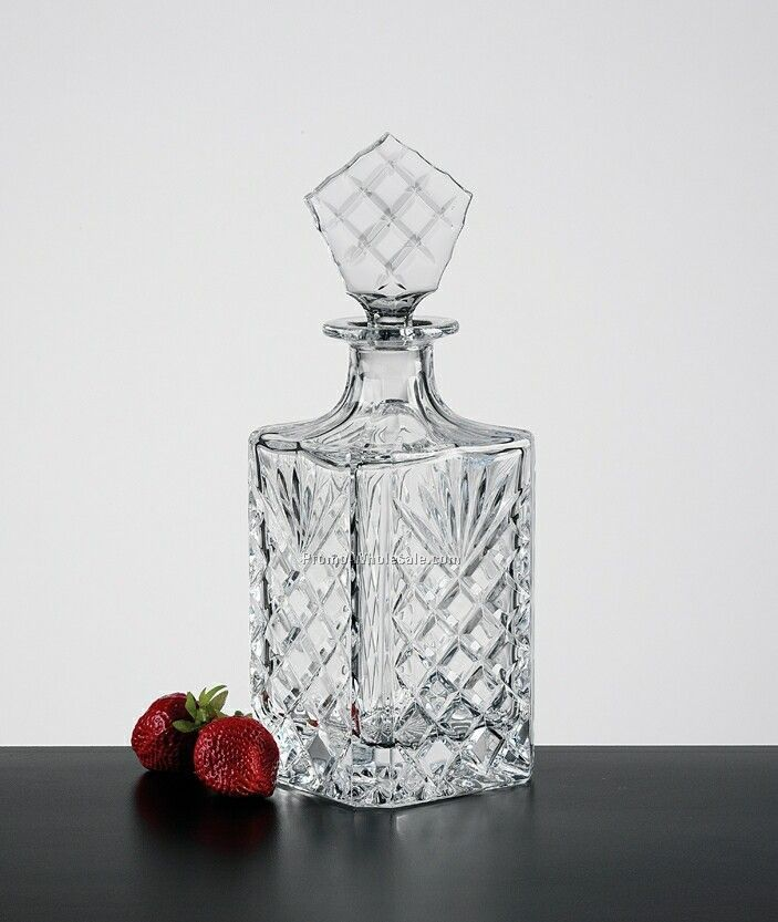 28 Oz. Square Oxford Decanter