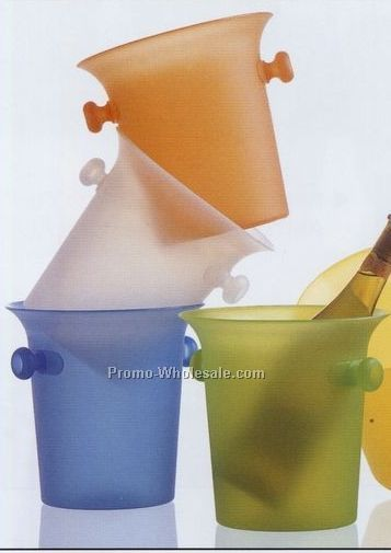3-1/2 Qt. Jubilee Frosted Polypropylene Wine Bucket With Knobbed Handle