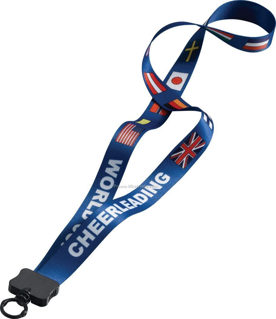 "3/4"" Dye Sublimated Lanyard With Standard O-ring"