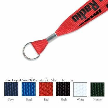 "3/4"" Upgrade - Custom 2 Day Fast Ship Nylon Lanyard W/ Key Ring"