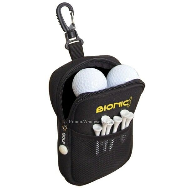 "4""x6-1/2""x1-1/2"" Neoprene Golf Accessories Pouch (Imprinted)"