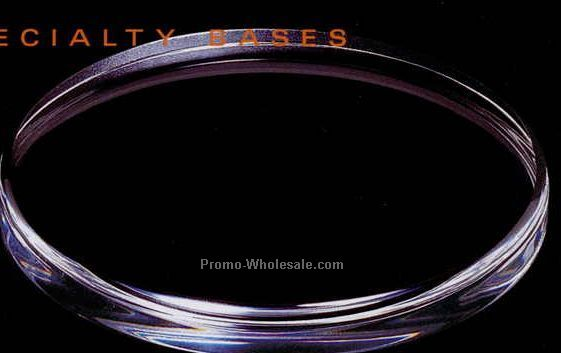 "Acrylic Specialty Base (Beveled Oval) 6""x3"""