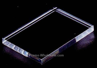 "Acrylic Specialty Base (Beveled Top) 1/2""x2""x2"" - Clear"