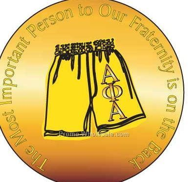 "Alpha Phi Alpha Fraternity Shorts Round Mirror W/ Full Mirror Back (2-1/2"")"