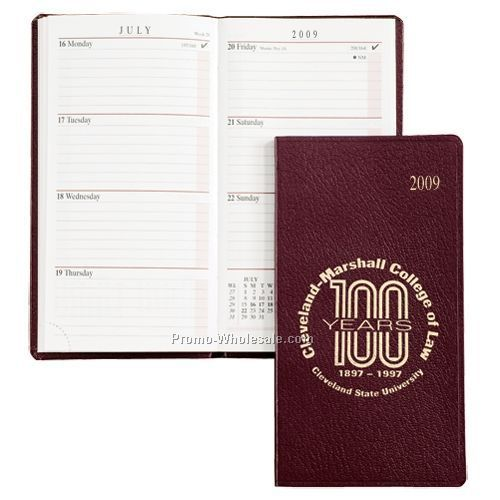 Black Cherry Sun Graphix Bonded Leather Professional Planner (White Paper)