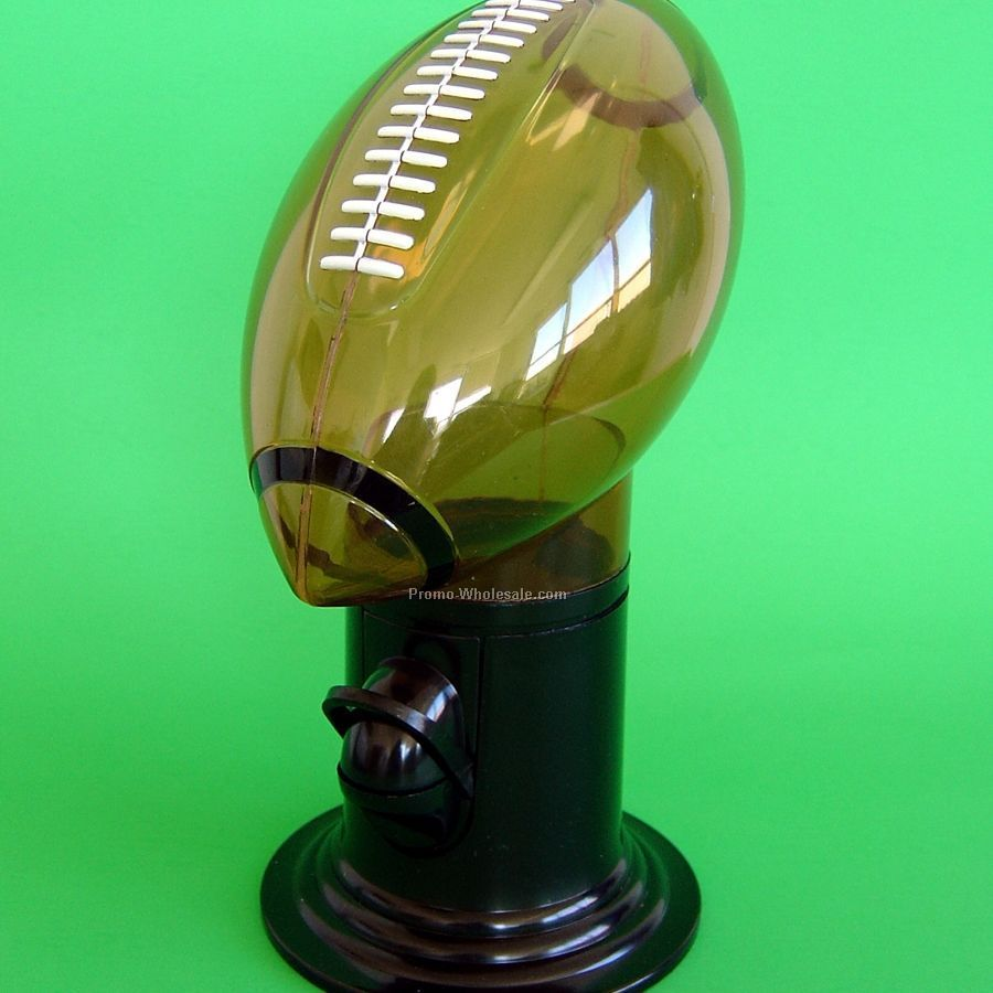 Candy Dispenser - Football - 1 Side / 1 Color Custom Imprint