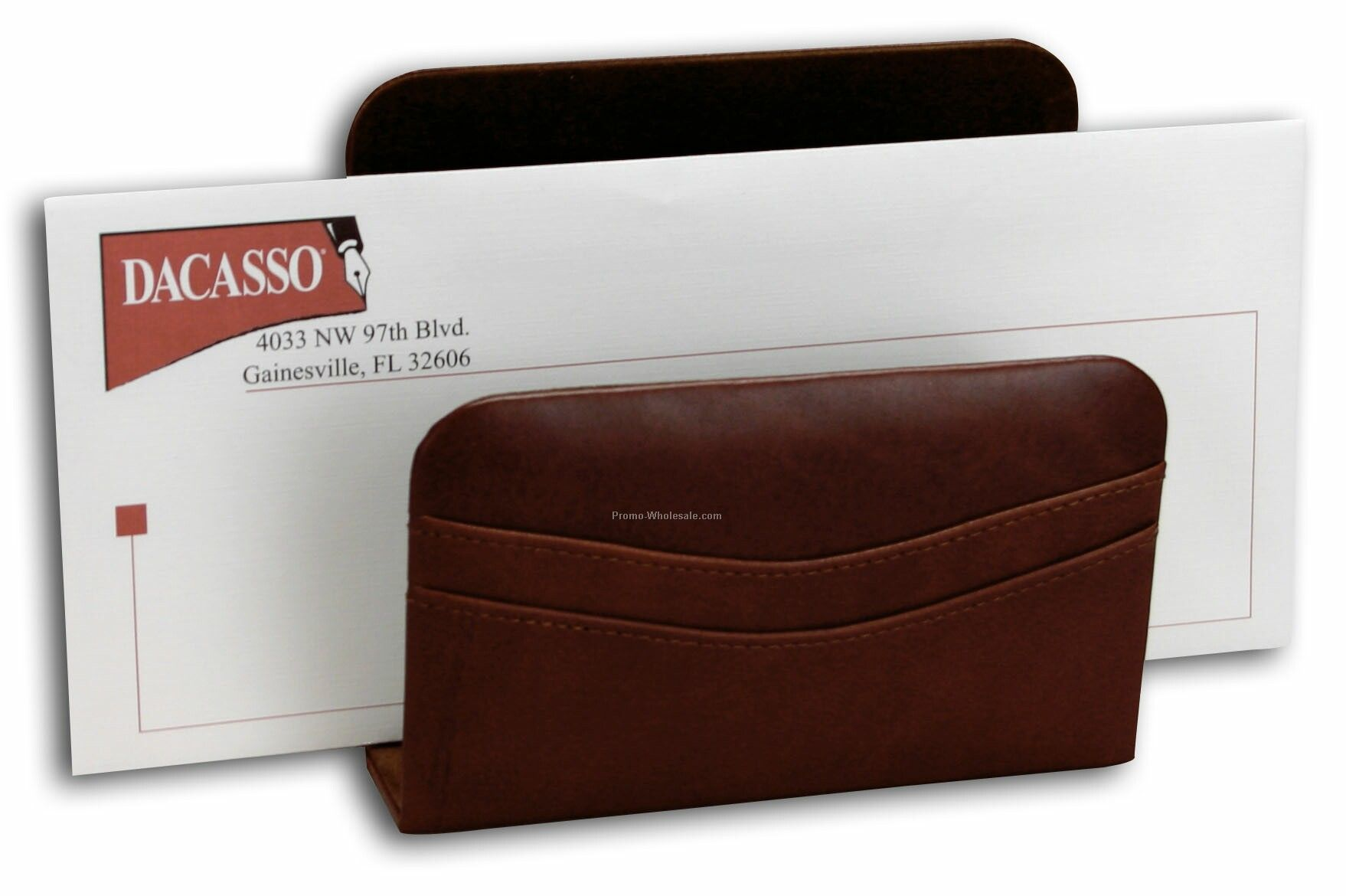 Classic Leather Letter Holder - Mocha Brown