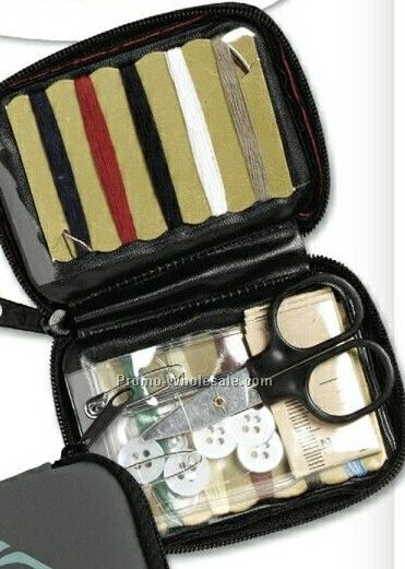 Deluxe Travel Sewing Kit With Full Zipper Case