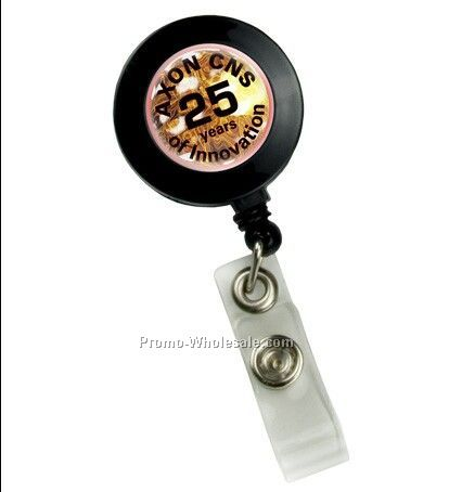 Domed Retractable Badge Holder Round