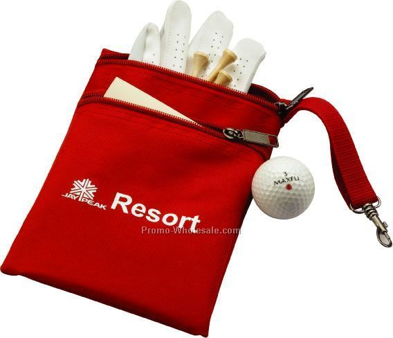 Double Zippered Golf/Sports Bag With Metal Snap Hook