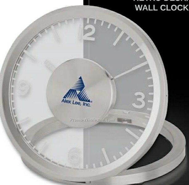 Essentials Veloce Retro Transparent Desk & Wall Clock 5""
