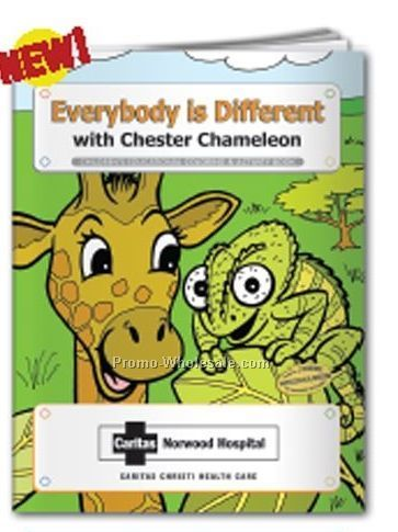 Everybody Is Different With Chester Chameleon Coloring Book
