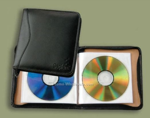 Full Grain Leather Slim-line CD Holder