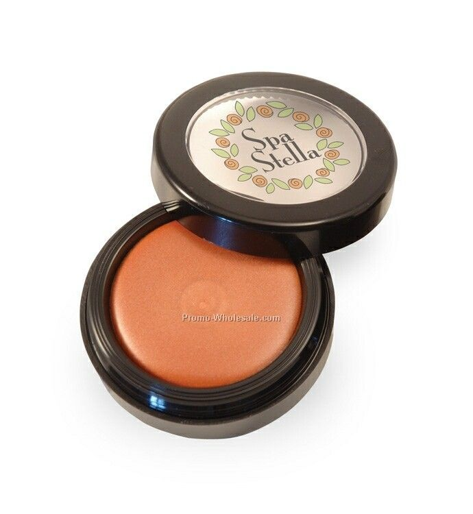 Golden Peach Lip Gloss In A Black Pot
