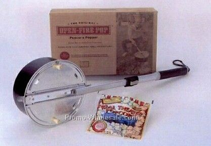 Open Fire Pop Popcorn Popper Embossed