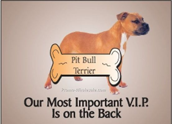 "Pitbull Terrier Photo Hand Mirror W/ Full Back Mirror (3-1/8""x2-1/8"")"