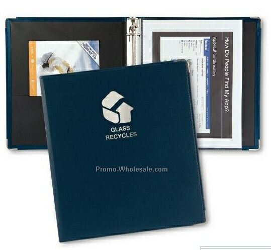 "Presidential Economy 1"" Ring Binder With Round Metal Corners"