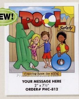 "Stock Design Safety Theme Coloring Book - Pool Safety (8-1/2""x11"")"