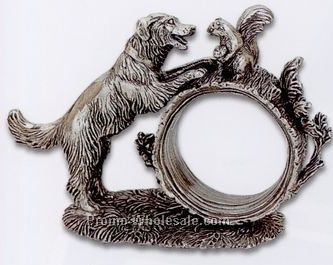 The 1824 Collection Silverplated Dog Napkin Ring