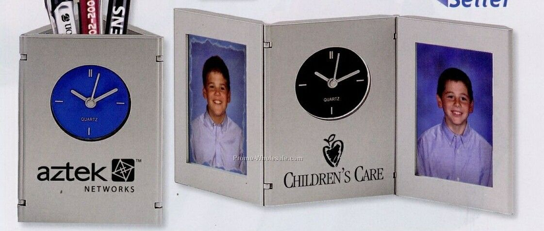 Time & Picture Clock/ Pen Cup (Standard Shipping)