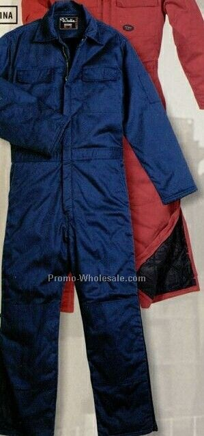 Walls Twill Insulated Coverall (S-6xl) - Navy Blue