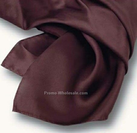 Wolfmark Chocolate Brown Solid Series Polyester Scarf