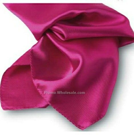Wolfmark Fuchsia Solid Series Polyester Scarf