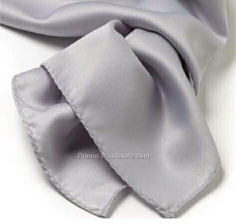 Wolfmark Light Gray Solid Series Polyester Scarf