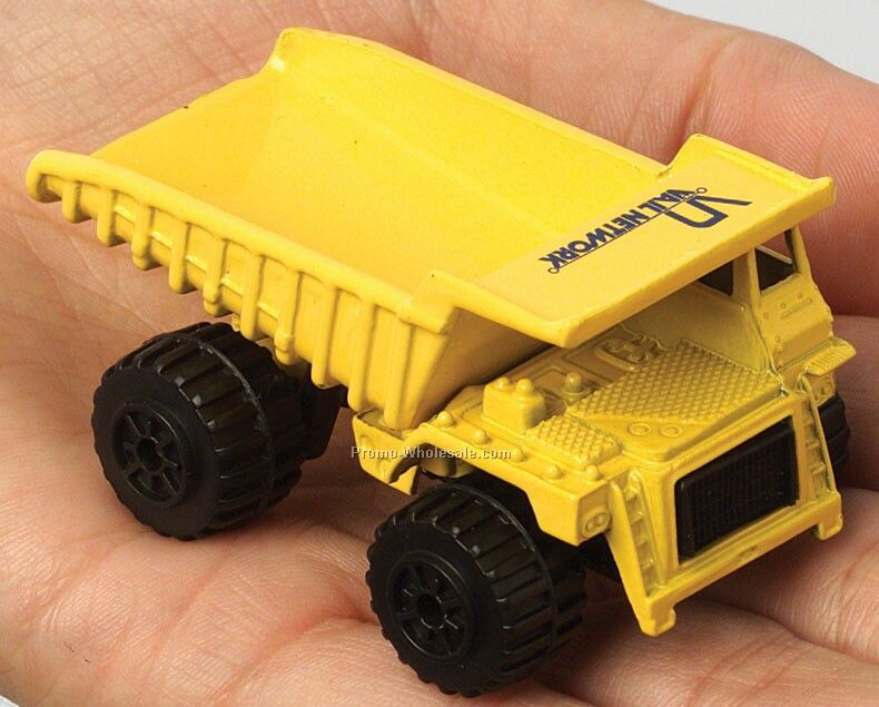 Yellow Dump Truck Die Cast Mini Vehicles