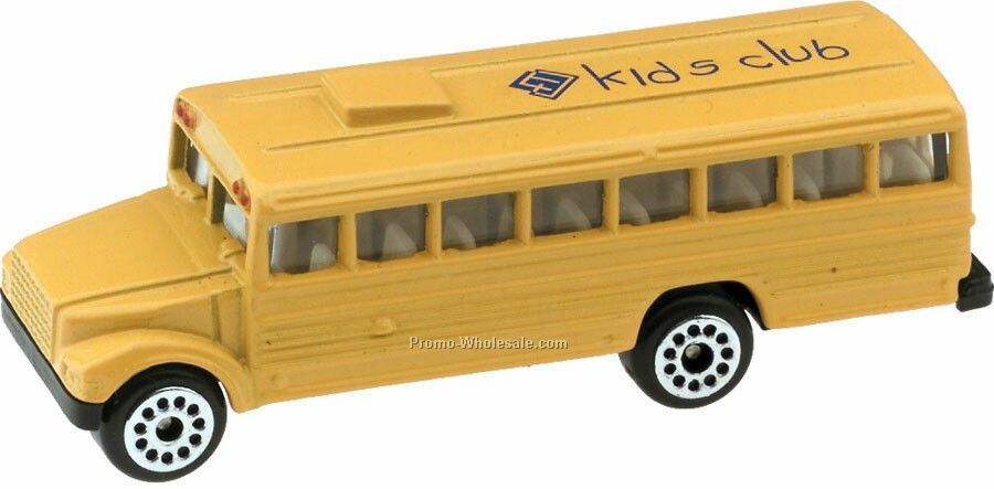Yellow School Bus Die Cast Mini Vehicles - 3 Day
