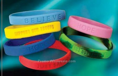 """just Say No"" Stock Silicone Bracelets"