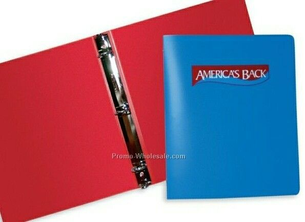 "1"" Poly-ring Binder (.035 Gauge - 2 Color/Screen Print)"
