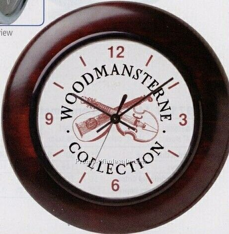 "12"" Mahogany Wood Wall Clock (10 Days Service)"