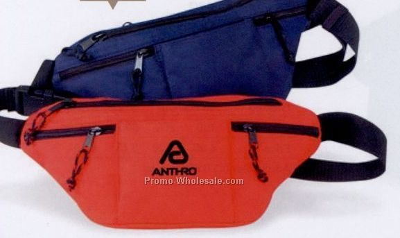 "14""x7""x3"" Four Zipper Fanny Pack"