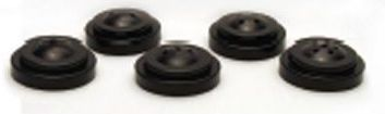 2 Hole Plastic Black Base