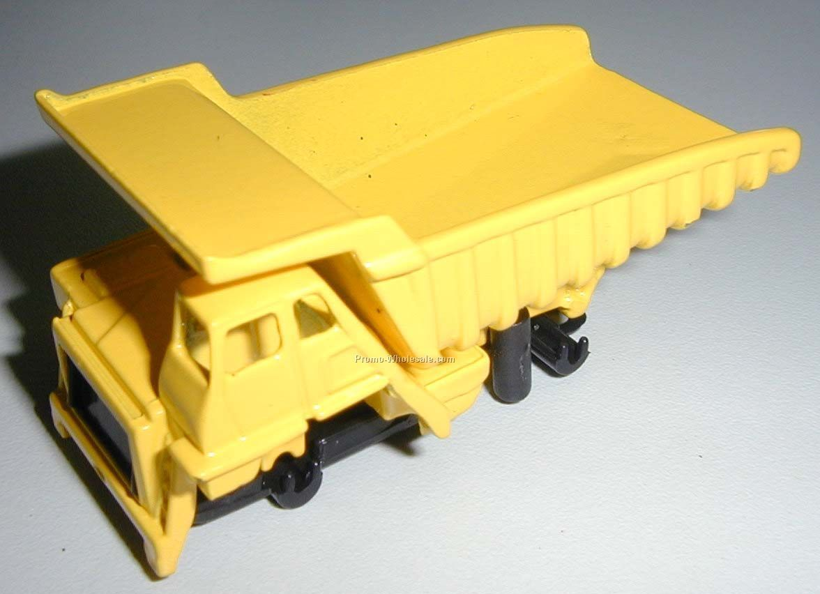 "3"" Yellow Mining Dump Truck Die Cast Mini Vehicles Construction Vehicle"